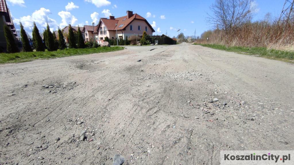 Droga szutrowa w Koszalinie