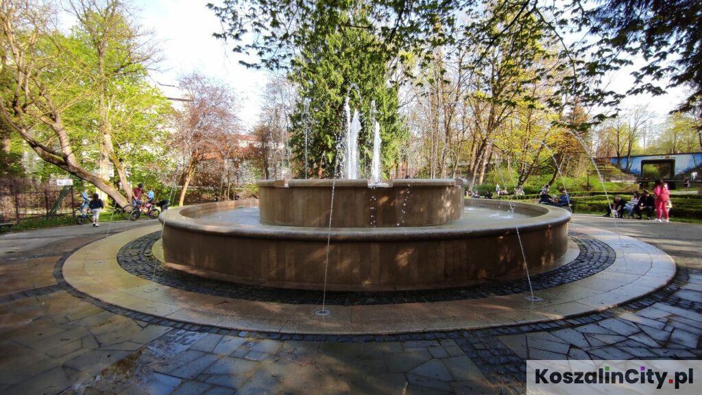 Fontanna w Parku Książąt Pomorskich w Koszalinie