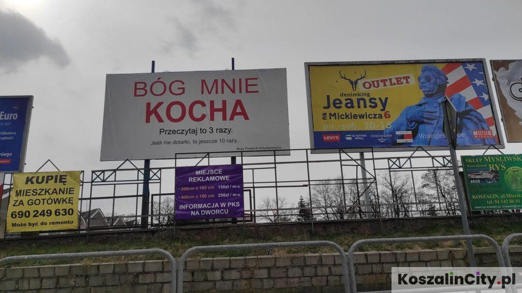 Koszalin - Bóg mnie kocha - reklama