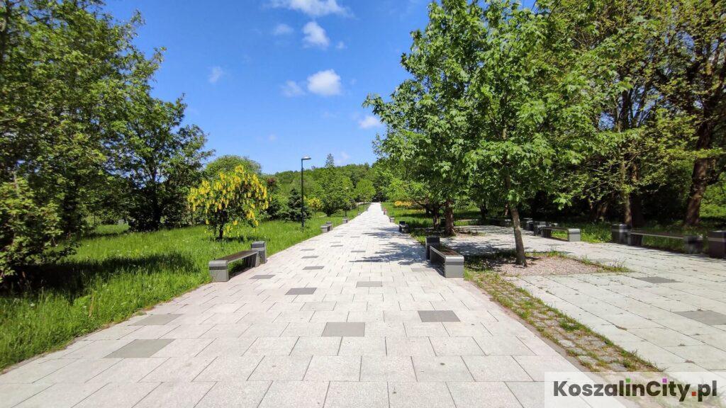 Park koło Aquaparku w Koszalinie