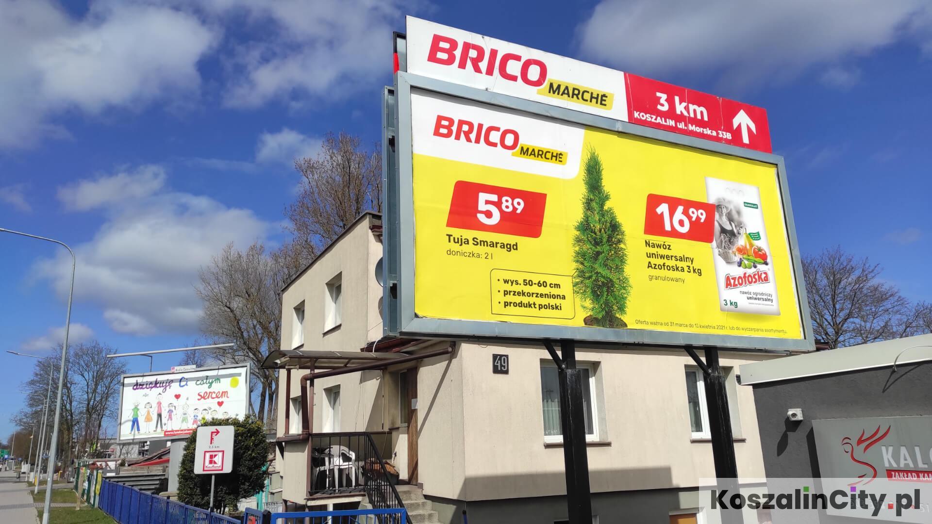 Reklama przy ulicy w Koszalinie