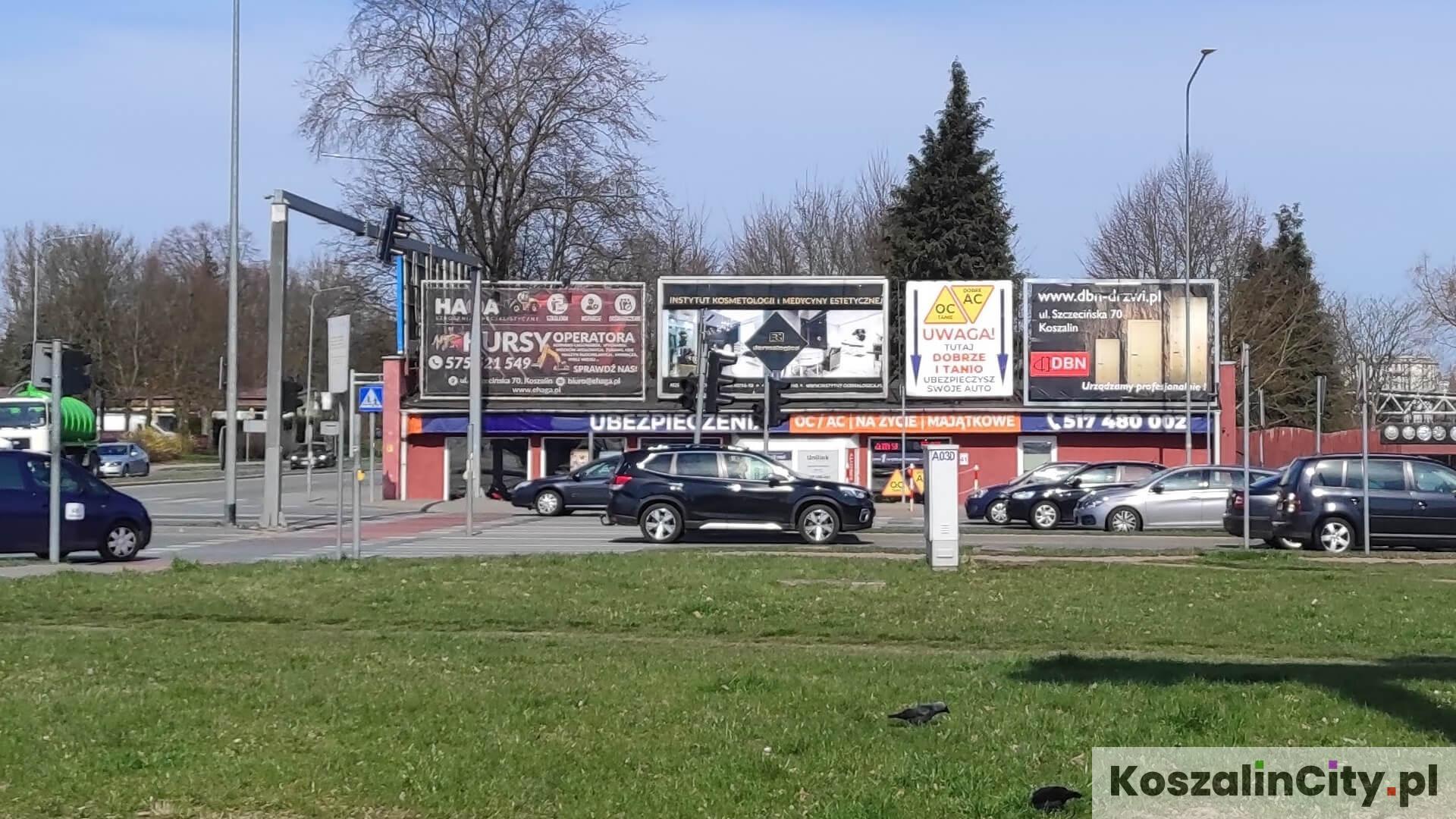 Billboardy reklamowe przy ul. 4 Marca w Koszalinie