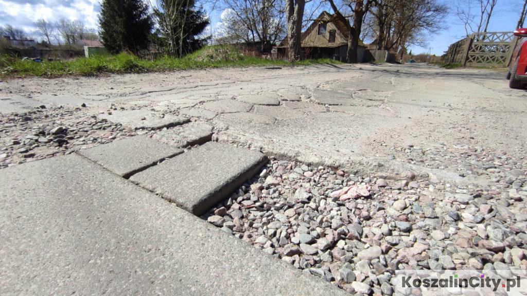 Zły stan dróg w Koszalinie