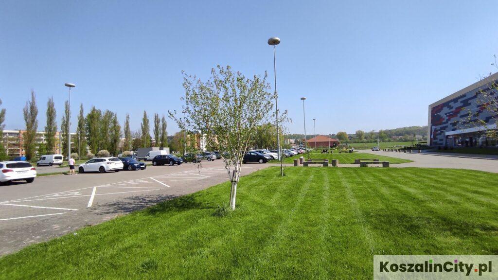 Parking przy hali w Koszalinie