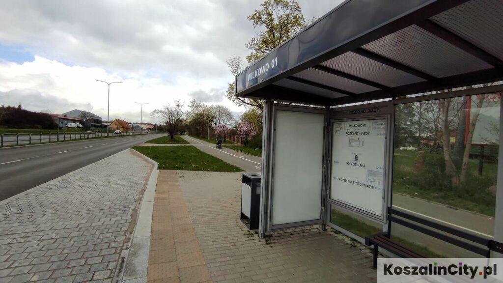 Przystanek autobusowy w Koszalinie