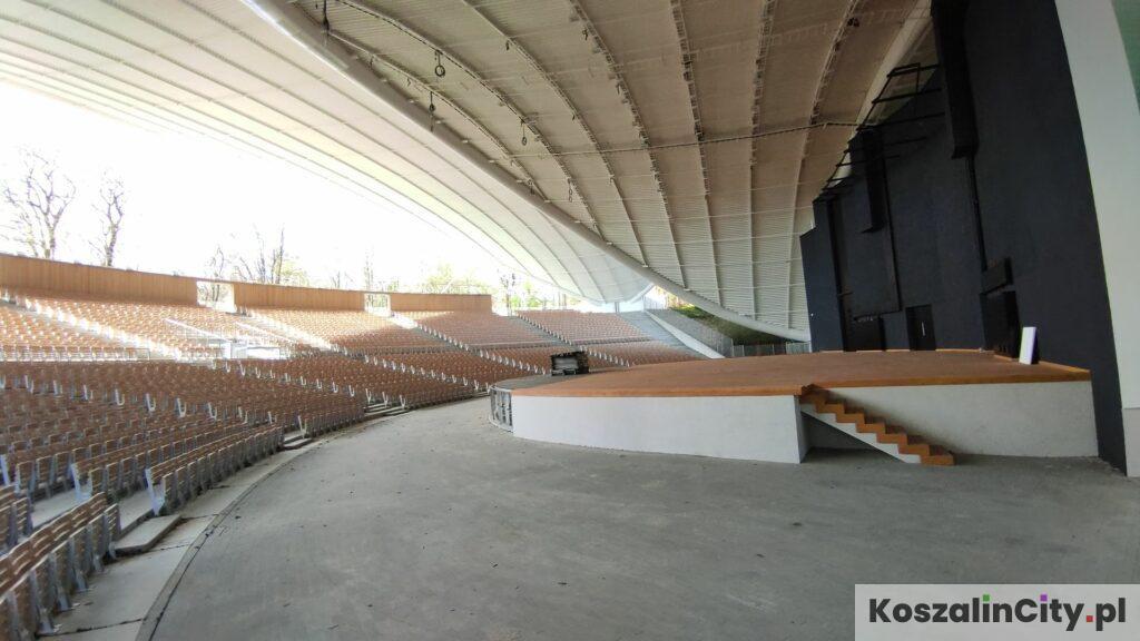 Scena w amfiteatrze w Koszalinie