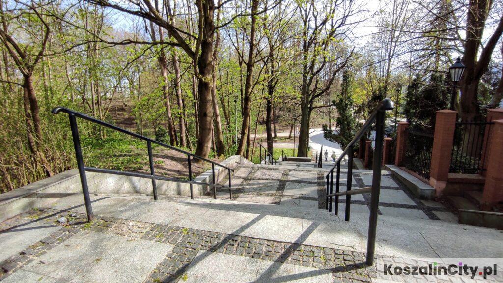 Schody w koszalińskim parku