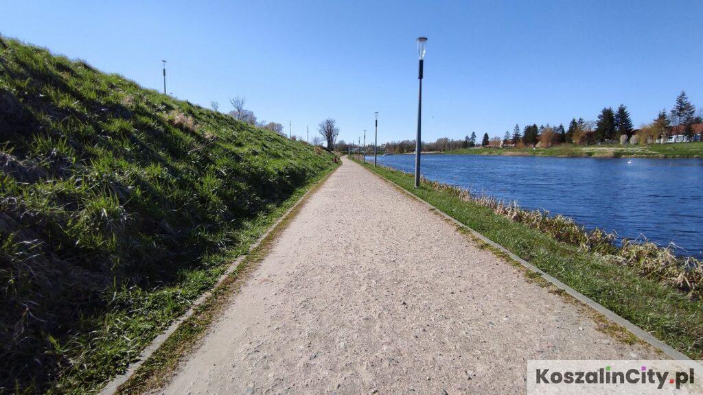Ścieżki rowerowe na Wodnej Dolinie w Koszalinie