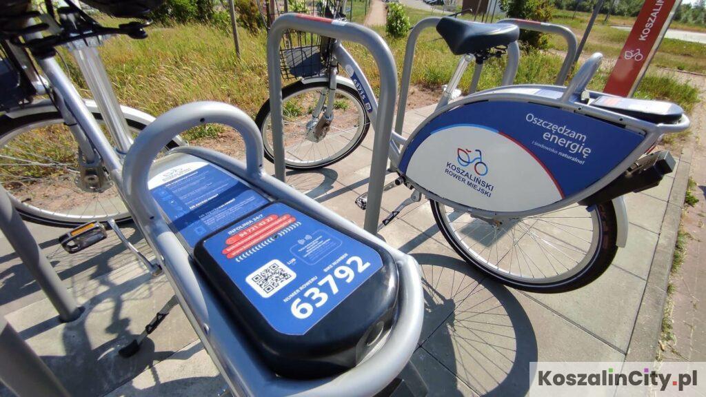 Numer roweru miejskiego w Koszalinie