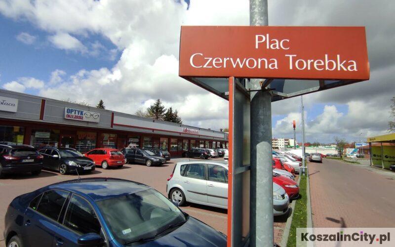 Parking przy placu Czerwona Torebka w Koszalinie