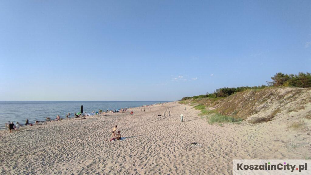 Plaża w Łazach jest uważana za najlepszą w okolicach Koszalina przez wielu mieszkańców miasta