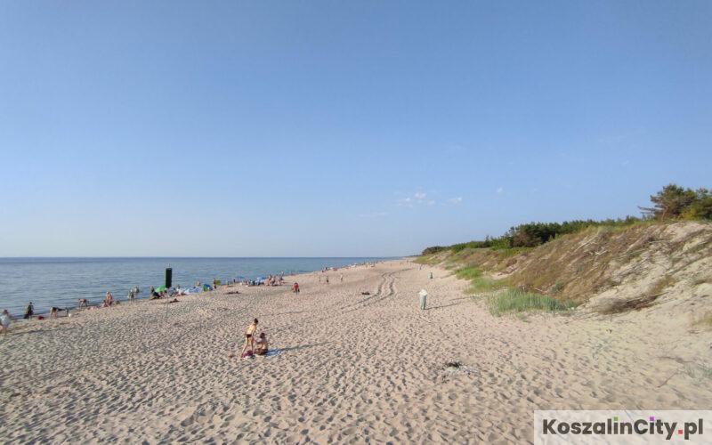 Plaża w Łazach koło Koszalina
