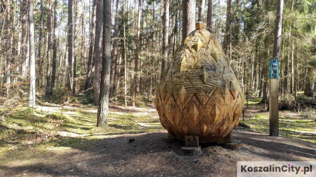Pomnik szyszki w parku w Mielnie