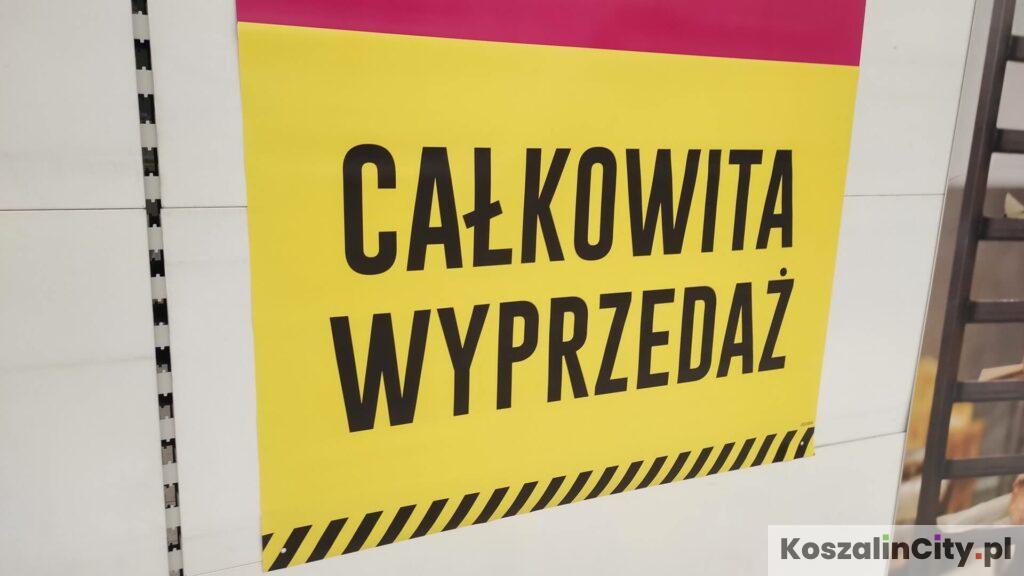 Likwidacja sklepu Tesco w Koszalinie i całkowita wyprzedaż towaru