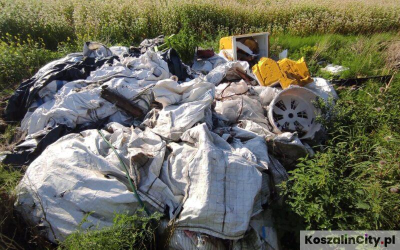 Dzikie wysypisko śmieci w Koszalinie