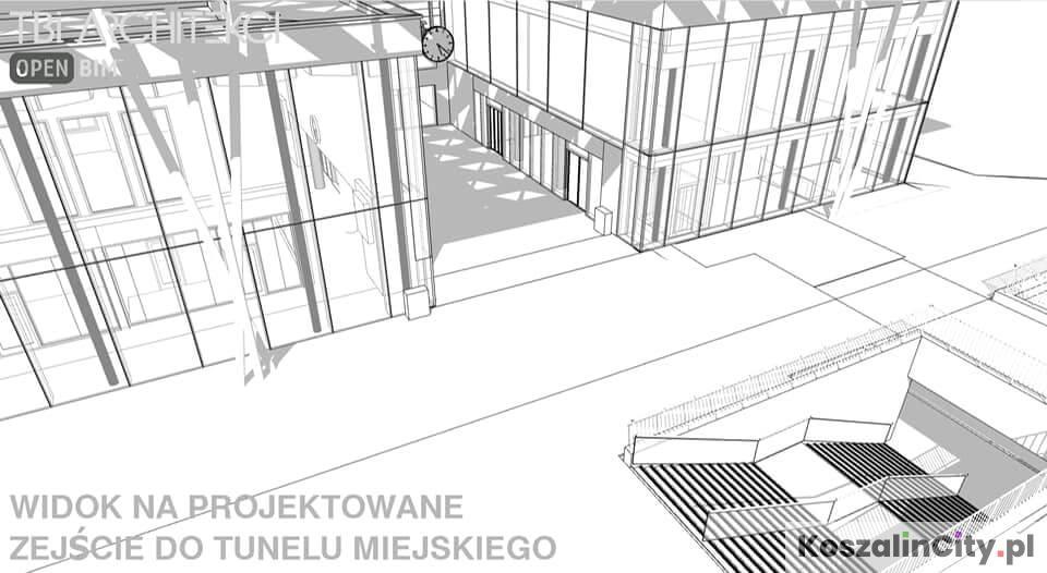 Główny hol nowego dworca PKP w Koszalin