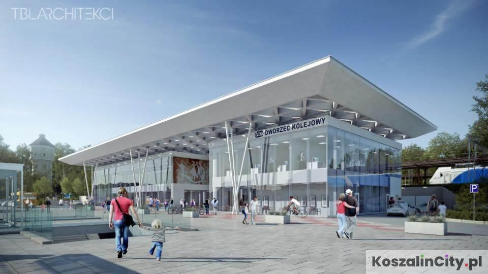 Nowy dworzec PKP w Koszalinie - wizualizacja