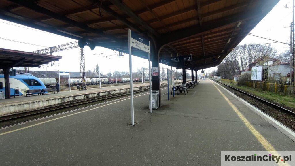 Peron kolejowy w Koszalinie