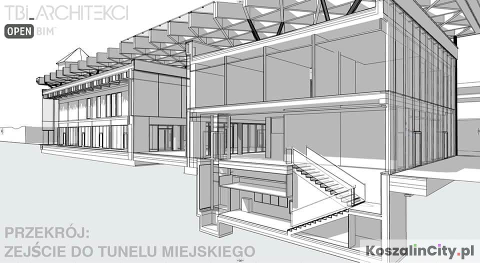 Projekt nowego dworca w Koszalinie