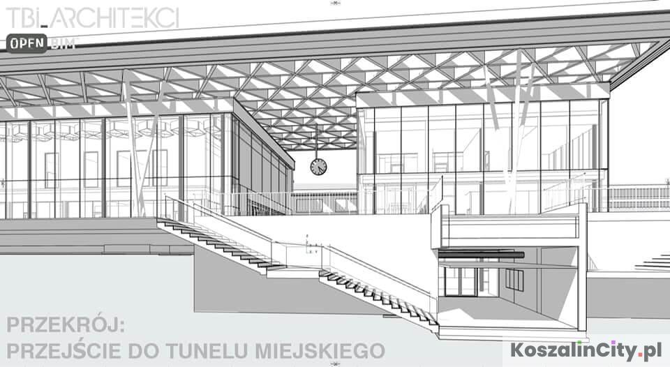 Przejście podziemne - dworzec PKP Koszalin