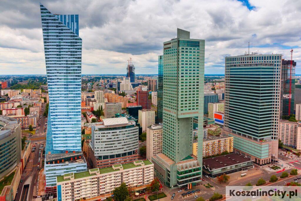 Warszawskie City i wieżowce